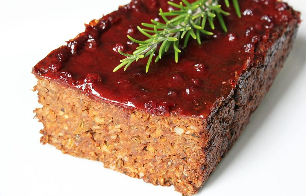 Lentil-Rice Loaf with BBQ Sauce