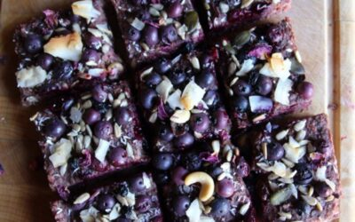 Raise the Bar with some Banana-Blueberry Bars